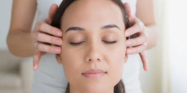 Head massage to relieve tension in head and neck